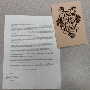 Thank You Card and Letter